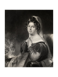 Felicia Dorothea Hemans, Engraved by W.Holl, from 'The National Portrait Gallery, Volume 1',… Giclee Print by William Edward West