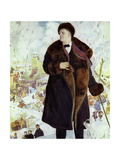 Portrait of Fyodor Chaliapin Giclee Print by Boris Mikhailovich Kustodiev