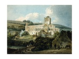 Jedburgh Abbey from the South-East Giclee Print by Thomas Girtin
