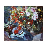 Roses Giclee Print by Konstantin A. Korovin