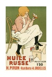 Poster Advertising 'Huile Russe' Shoe Protector, 1896 Giclee Print by Armand Rassenfosse