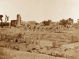 Church Yard and the Residency in the Distance, Lucknow Photographic Print by Felice Beato