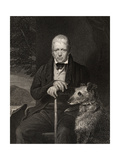Sir Walter Scott, Engraved by W. Holl, from 'The National Portrait Gallery, Volume I', Published… Giclee Print by Sir John Watson Gordon
