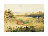 Hare in a Landscape, 1827 Giclee Print by Newton Fielding
