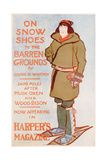 Advertisement for on Snow Shoes to the Barren Grounds, by Caspar W Whitney, C.1899 Giclee Print by Edward Penfield
