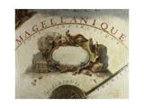 Terrestrial Globe, Detail of a Descriptive Cartouche of Magellan's Expedition to the Antartic, 1683 Giclee Print by Vincenzo Maria Coronelli