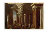 An Architectural Capriccio with a Roman Sacrifice Giclee Print by  V. Codazzi and D. Gargiulo