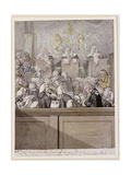 Term Time - or the Lawyers All Alive in Westminster Hall Giclee Print by Robert Dighton