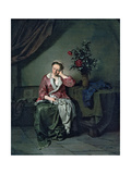 A Parlour Maid at Rest Giclee Print by Cornelis Bega