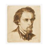 Self Portrait, 1855 Giclee Print by Dante Charles Gabriel Rossetti