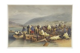 The Embarkation of the Sick at Balaklava, Plate from 'The Seat of War in the East', Published by… Giclee Print by William 'Crimea' Simpson