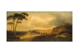 Landscape with Figures Giclee Print by John Glen Wilson