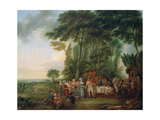 Soldiers Having a Meal in the Countryside, 1788 Giclee Print by Louis Joseph Watteau