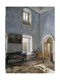The Hall in the Old House, the Obinskys' Estate, Belkino Giclee Print by Valentin Aleksandrovich Serov