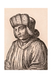Jan Van Eyck, Illustration from '75 Portraits of Celebrated Painters from Authentic Originals',… Giclee Print by James Girtin