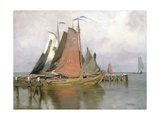Fishing Boats Leaving Zuyderzee Port, 1899 Giclee Print by Adrian Scott Stokes