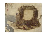 Terrestrial Globe, Detail: Father Augustin Ruys and Work in the Mines, 1683 Giclee Print by Vincenzo Maria Coronelli