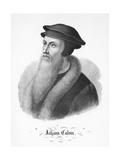 Portrait of John Calvin 1846-55 Giclee Print by F. C. Wentzel