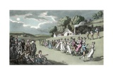 The Dance, Illustration from 'The Vicar of Wakefield' by Oliver Goldsmith, Pub. Ackermann, 1817 Giclee Print by Thomas Rowlandson