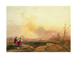 Figures Sketching Near the Avon Gorge Giclee Print by James Baker Pyne