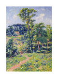 Landscape with Trees and a Path Leading to a Cottage Giclee Print by Henry Moret