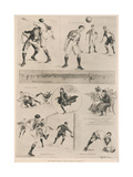 The Inter-University Football Match, 18th February 1899, from 'The Illustrated London News', 25th… Giclee Print by Ralph Cleaver