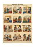 Twelve Exhibition Stands from Various Nations at the Great Exhibition in London, Published by… Giclee Print by German School