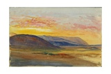 Mount Carmel in Autumn, Looking West at Sunset, 1872 Giclee Print by Claude Conder
