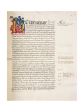 Ms.228, F.29R: Page from Aristotle's 'Nicomachean Ethics and Politics', 1452 Giclee Print by John Russell