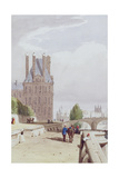 View of the Tuilleries on the Seine Giclee Print by Thomas Shotter Boys
