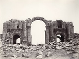 Hadrian's Arch at the Entrance to Jerash, 1867 Photographic Print by Corporal Henry Phillips