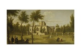 View of Chiswick Villa from the Lawn, C.1735 Giclee Print by George Lambert