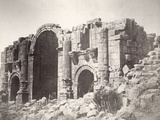 Triumphal Arch at Jerash, from the South, 1875 Photographic Print by Tancrede Dumas