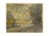 Lintel of Barclay's Doorway, Near Jews Wailing Place, Jerusalem, 1870 Giclee Print by William 'Crimea' Simpson
