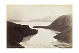 Wahanga and Tarawera Mountains, from Lake Tarawera, Octoner 1886 Giclee Print by George Dobson Valentine