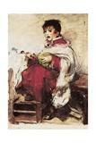 Monaguillo Tocando La Zambomba, C.1893-1895 Giclee Print by Ignacio Pinazo Camarlech