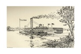 A Mississippi Steamer Off St. Louis, from 'American Notes' by Charles Dickens Giclee Print by E.H. Fitchew