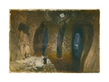 Bahr El Khabeer or the Great Sea Rock-Cut Cistern under the Site of Solomon's Temple, 1870 Giclee Print by William 'Crimea' Simpson