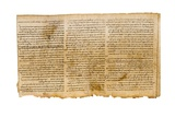 The Great Isaiah Scroll, Columns 28-30, Qumram Cave I, C.100 BC Giclee Print