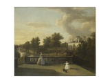 View of Chiswick Villa from a Balcony Above the Cascade with the Lake, 1742 Giclee Print by George Lambert
