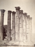 Temple of the Sun, Jerash, 1875 Photographic Print by Tancrede Dumas