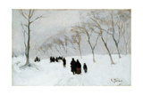 Snow Storm Giclee Print by Anton Mauve