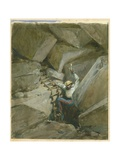 Fallen Voussoirs of Robinson's Arch, Jerusalem, 1869 Giclee Print by William 'Crimea' Simpson