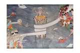 The Churning of the Ocean of Milk, C.1860-70 Giclee Print by  Indian School