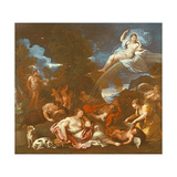 The Disarming of Cupid Lámina giclée por Luca Giordano