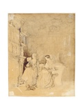 Marianne Nicholson Reading to Florence Nightingale in the Drawing Room at Embley Giclee Print by Parthenope Nightingale