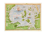 Fol.30V Map of the Sea of Maluku, from the 'Cosmographie Universelle', 1555 Giclee Print by Guillaume Le Testu
