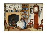 Interior of a House at Compton Bassett, 1849 Giclee Print by Elizabeth Pearson Dalby