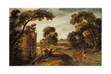 Summer Landscape (The Road to Emmaus) 1612-13 Giclee Print by Esaias I van de Velde