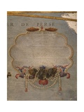 Terrestrial Globe, Detail: Descriptive Cartouche of Gathering Pearls in the Persian Sea, 1683 Giclee Print by Vincenzo Maria Coronelli